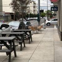 Patio at Rovente Pizzeria, Portland