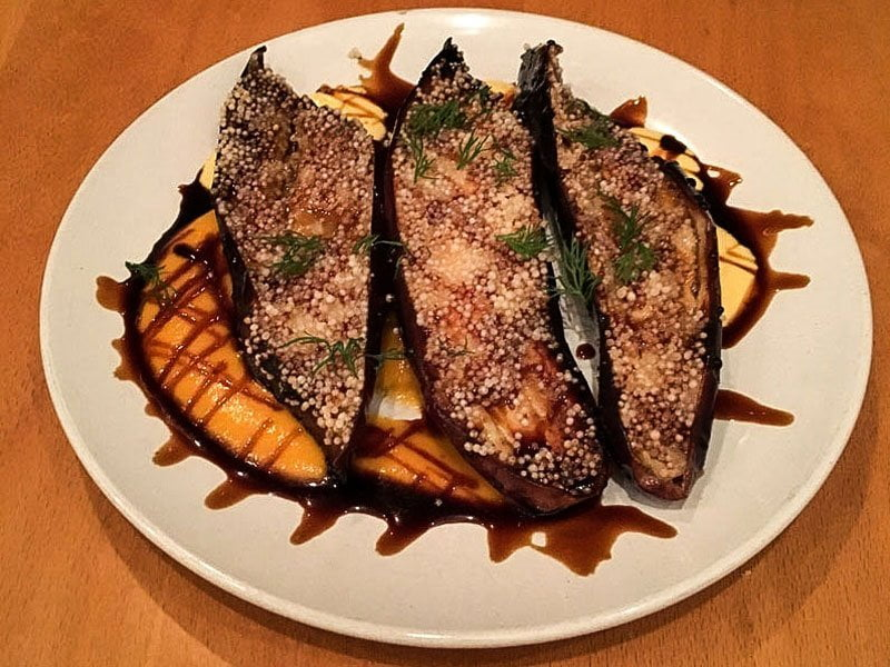 Japanese eggplant at Aviary