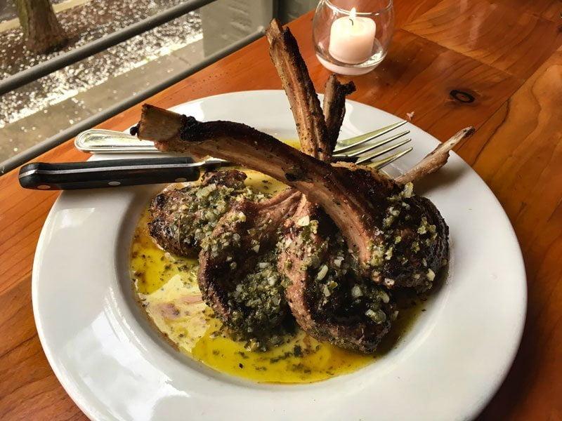 MEC Restaurant Portland lamb chops