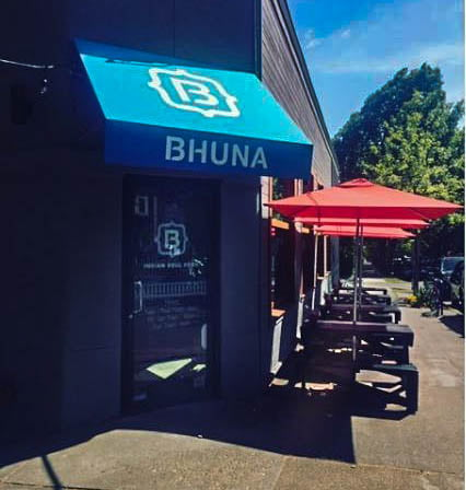 Ourdoor dining at Bhuna Restaurant Portland