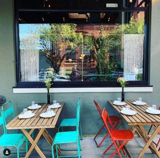 Montesacro Restaurant patio dining