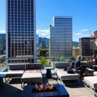 XPort Bar & Lounge Portland outdoor dining area