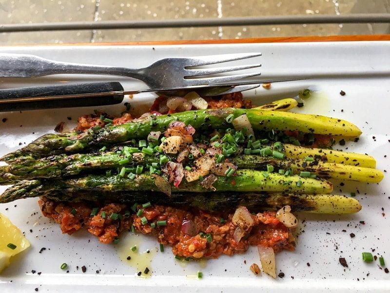 Asparagus at Mediterranean Exploration Company Portland