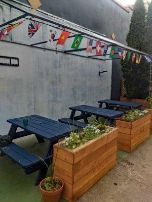 Gol Bar outdoor dining