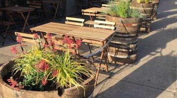 Haymaker Bar outdoor dining